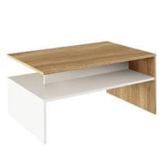 Konferenčný stolík, dub sonoma/biela, DAMOLI