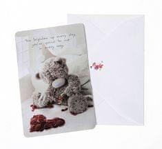 Me To You Dárková kartička s obálkou , Kartička s obálkou srdce z růží