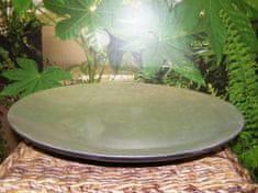 Bambusová mísa - stříbrná - výška 6,5 cm, průměr (vrchní) 45 cm (mísa střední)
