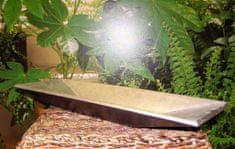 Dekorativní bambusová mísa - stříbrná