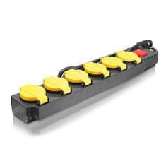Erba Prodlužovací kabel s vypínačem 6 zásuvek