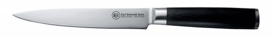 CS Solingen Nůž porcovací damascénská nerezová ocel 18 cm KONSTANZ