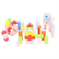 Bigjigs Toys Bigjigs Baby Barevné kostky v kyblíku 50 ks