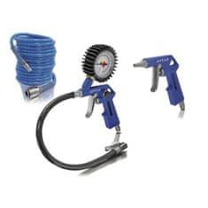 Erba Sada pneumatického príslušenstva ku kompresoru 3 ks modrá