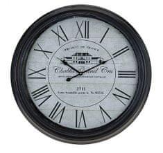 ALUZZI Nastěnné hodiny kovové 63 cm Retro Chablis 1911