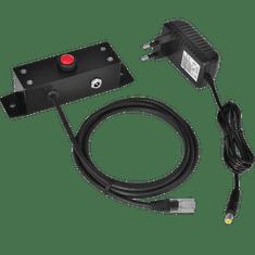 Virtuos tlačidlo pre elektronické otváranie pokladničných zásuviek 24V kovové (EVA0008)