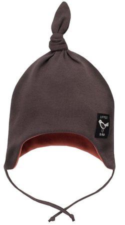 PINOKIO Little Bird dekliška kapa z vozlom, 56 dark grey