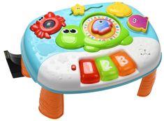 Mikro hračky Stoleček interaktivní 31cm s klávesami na baterie se světlem a zvukem