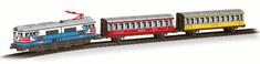 Pequetren Passengers train – historický osobní vlak se železniční stanicí