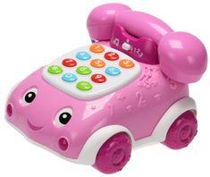 Mikro hračky Telefonek 16 cm naučný růžový 2 funkce na baterie se světlem a zvukem