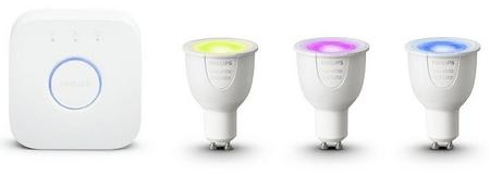 Philips HueWCA 6.5 W GU10 pametna žarnica, 3 kosi + Bridge
