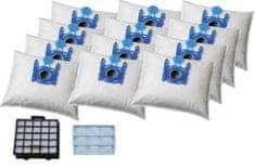 KOMA Sada příslušenství pro vysavače BOSCH Typ G, Siemens, 12ks sáčků s plastovým čelem, 1ks HEPA filtr a 1ks motorový filtr