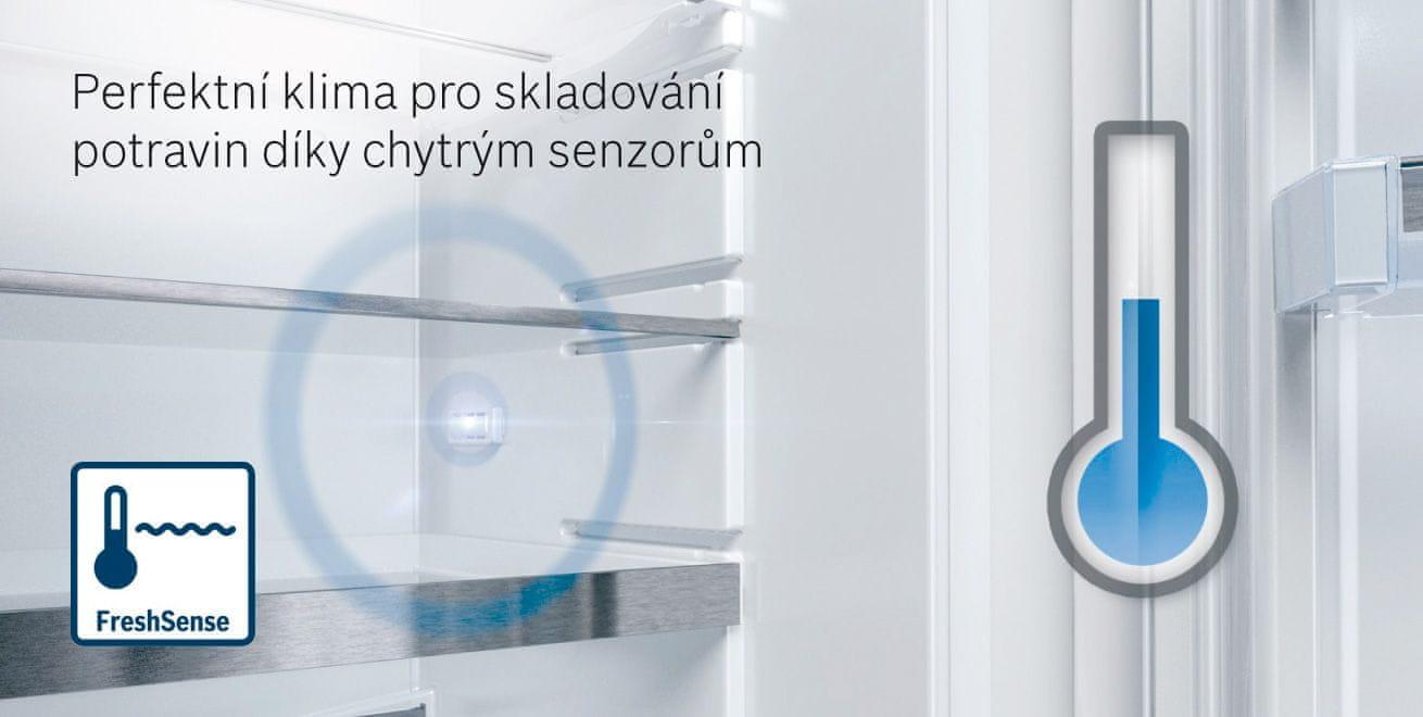 Bosch KGN49AIDP FreshSense systém