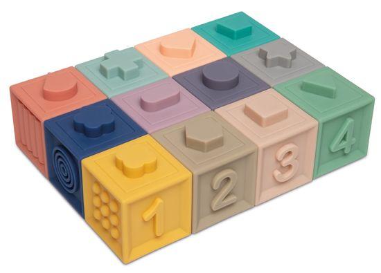 Canpol babies Mäkké senzorické hracie kocky 12 ks