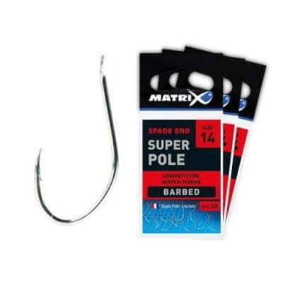 Matrix Rybářské háčky Matrix Super Pole hooks Barbed velikost: 20