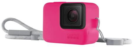 GoPro Sleeve + Lanyard (szilikon tok, neonrózsaszín) (ACSST-011)