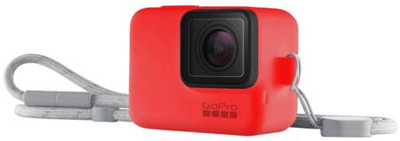 GoPro silikonski ovitek Sleeve & Lanyard, rdeč (ACSST-012)