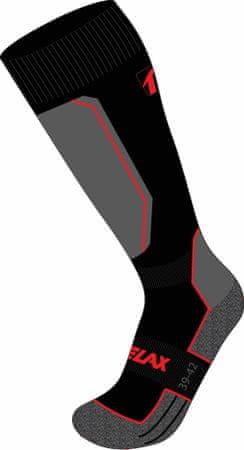 Relax Carve Rso33 smučarske nogavice, črno-rdeče, M