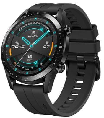 Inteligentné hodinky Huawei Watch GT 2, sledovanie tepu, multi šport, plávanie, vodotesné, hudobný prehrávač, volanie, Bluetooth, mikrofón, reproduktor, fyzická aktivita, kroky, spálené kalórie, GPS, Glonass, Beidou, dlhá výdrž, spánok, stres