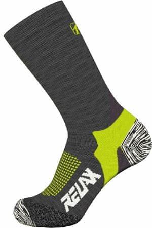 Relax Nordic Rso37 nogavice za tek na smučeh, sivo-zelene, L