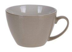 EXCELLENT Hrnek cappuccino porcelán 0,4 l hnědá