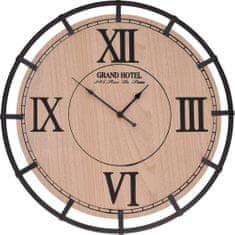 HOMESTYLING Hodiny nástěnné dřevo / kov 40 cm