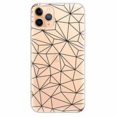 iSaprio Silikonové pouzdro - Abstract Triangles 03 - black - iPhone 11 Pro Max