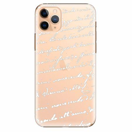 iSaprio Plastový kryt - Handwriting 01 - white - iPhone 11 Pro Max