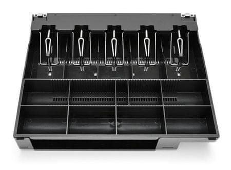 Virtuos kompletní vložka s mincovníkem a kovovými držáky bankovek pro pokladní zásuvky C410, C420x a C430