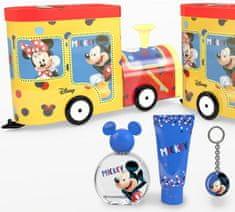 EP LINE Mickey Mouse - EDT 50 ml + sprchový gel 75 ml + plechová mašinka + klíčenka