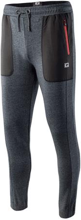 IQ Risan moške hlače Black Melange/Black/Spicy Orange, M