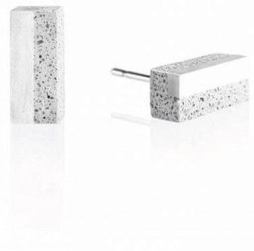 Gravelli Náušnice z betónu a ocele Block Steel GJEWSSG004UN