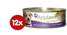 Applaws Konzerva Dog - kuře a zelenina 12 x 156g