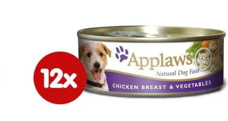 Applaws Mokra karma dla psa - kurczak i warzywa 12 x 156 g
