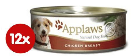 Applaws mokra hrana za pse, pileća prsa, 12 x 156g