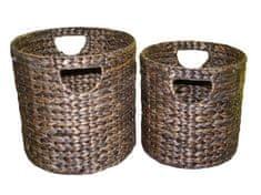 FORLIVING Koš - vodní hyacint - sada 2 kusů