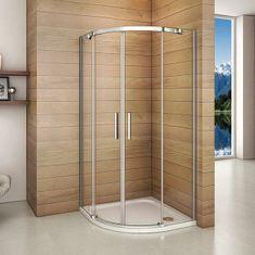 H K Štvrťkruhový sprchovací kút HARMONY S4 90 cm s dvojdielnymi posuvnými dverami