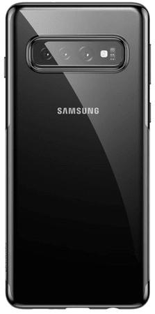 BASEUS Shining Series zselés védőtok a Samsung S10+-ra, fekete, ARSAS10P-MD01