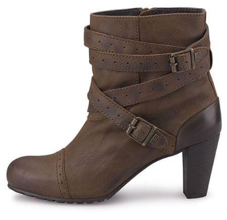 Levi's Dámská módní kotníková obuv na podpatku - hnědá, 38