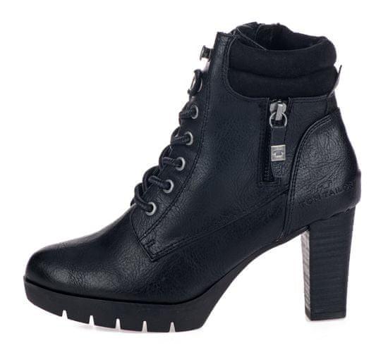 Tom Tailor dámská kotníčková obuv na podpatku 7991705 36 černá