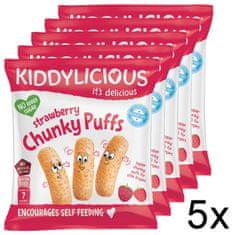 Kiddylicious Ovocné křupky - Jahoda 5x12 g