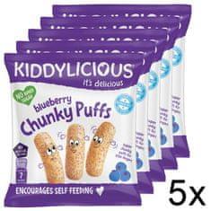 Kiddylicious Ovocné křupky - Borůvka 5x12 g