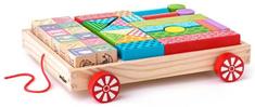 Woody Vozík s kockami/pečiatkami ABC