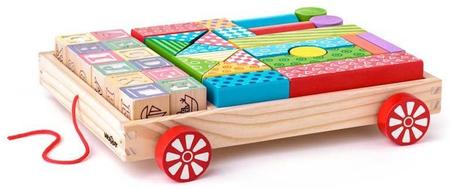 Woody Kocsi kockákkal/ABC bélyegzővel