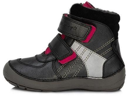 D-D-step buty zimowe dziecięce 25 czarne