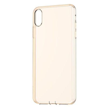 BASEUS Simplicity Series zaščitni ovitek za iPhone XR, prozoren - zlat, ARAPIPH61-A0V