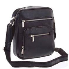 Always Wild Pánská moderní kožená taška Severín černá