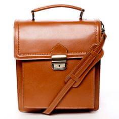 Delami Vera Pelle Pánská kožená taška Amber koňaková