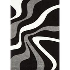 Nazar kusový koberec černo/šedo/bílý, 170x120 cm
