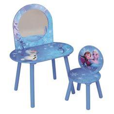 Fun House stolek se zrdcadlem a židlička - Ledové království
